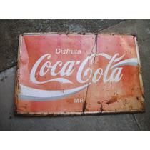 Cartel De Coca Cola De Lamina Troquelado