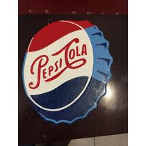 Antigua Ficha Refresco Pepsi Cola Anunció Lamina Troquelada