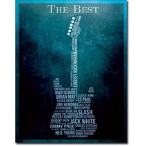 Lamina Poster Litografia Musica Los Mejores Guitarristas Mun