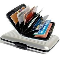 Lote 10 Piezas Cartera Aluminium Wallet Estampada Aluma
