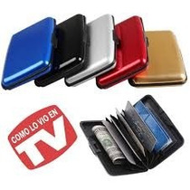 12 Piezas Card Guard Aluma Wallet Porta Credencial Mayoreo