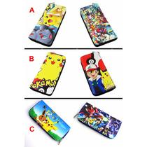 Cartera Con Cierre Anime Pokemon Ash Pikachu 3 Modelos