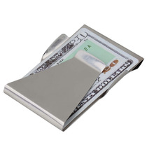 Money Clip Con Tarjetero De Acero Inoxidable, Superslim!!!