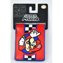 Super Mario Bros Cartera Bi-fold Importada 100% Original