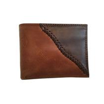 Cartera De Piel Tejida A Mano - Bi Fold / Lether Wallet