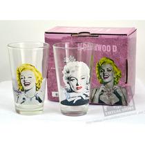 Marilyn Monroe Set De 2 Vasos Importados 100% Originales