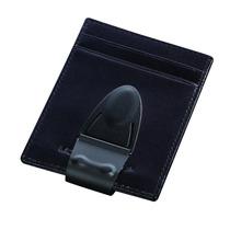 Cartera Money Clamp Geneva Mini, Billetera 100% Piel C/ Clip