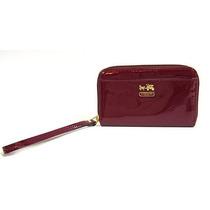 Billetera Coach Madison Patent Universal Case Crimson Red I