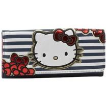 Monedero Hello Kitty Rayada Arco Sanwa0289