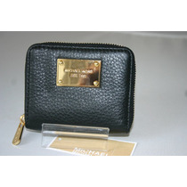 Cartera Mk Michael Kors De Piel Color Negro 100% Original