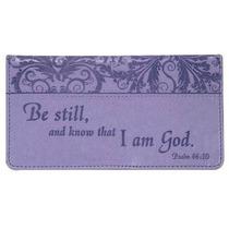 Cartera Psalm : Purple Checkbook Cover Para Mujer