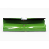 Cartera Dama Charol Verde Broche Plateado Cd29