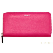 Cartera Coach De Piel Color Rosa Mexicano