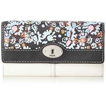 Cartera Fossil Marlow Imprimir Flap Monedero, Oscuro Floral