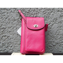 Cartera Monedero Estuche Iphone Coach Rosa 100% Original