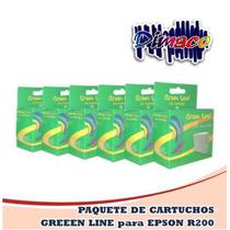 Paquete Con 6 Cartuchos Greenline Para Epson R200
