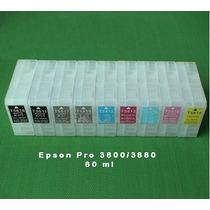 Cartuchos Recargables Para Epson Pro 3800/3880