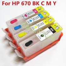 Cartuchos Recargables Hp 670 Hp5525, Hp4615, Hp4625, Hp3525