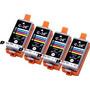 4 Paquete Compatible Canon Cli-36 4 Tri Color Para Su Uso Co