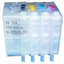 Cartuchos Hp 711 Chip Reseteable Precio Por Juego T120 T520