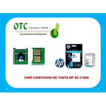 Chip Cartucho De Tinta Hp 82 Cyan