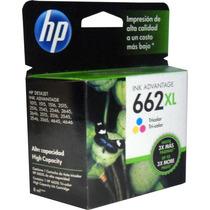 Cartucho Tinta Hp 662xl Color Original Cz106al Alto Rendimie
