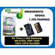Kit Toner Y Chip Samsung Mlt-d104s 1660 1665 1670 Scx32 Rm4