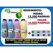 Kit Recarga Y Chip Toner Hp 651mfp D775 700 Ce340 Ce341 C342