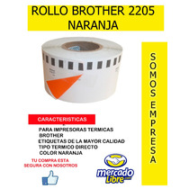 Rollos Brother Dk 2205 Naranja