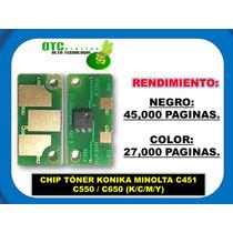 Chip Toner Konika Minolta C451 C550 C650