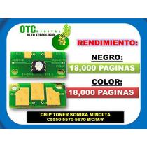 Chip Toner Konika Minolta C5550-5570-5670 B/c/m/y Vbf