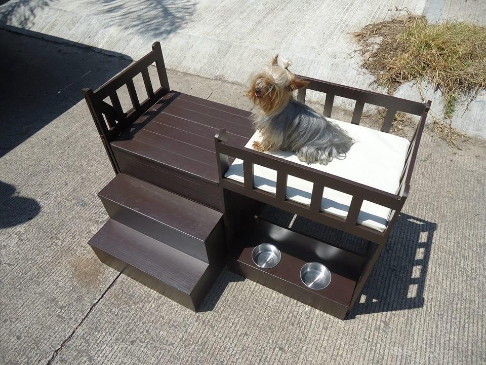 Casa cama de dos pisos para perros miniatura o gatos for Lo ultimo en pisos para casas