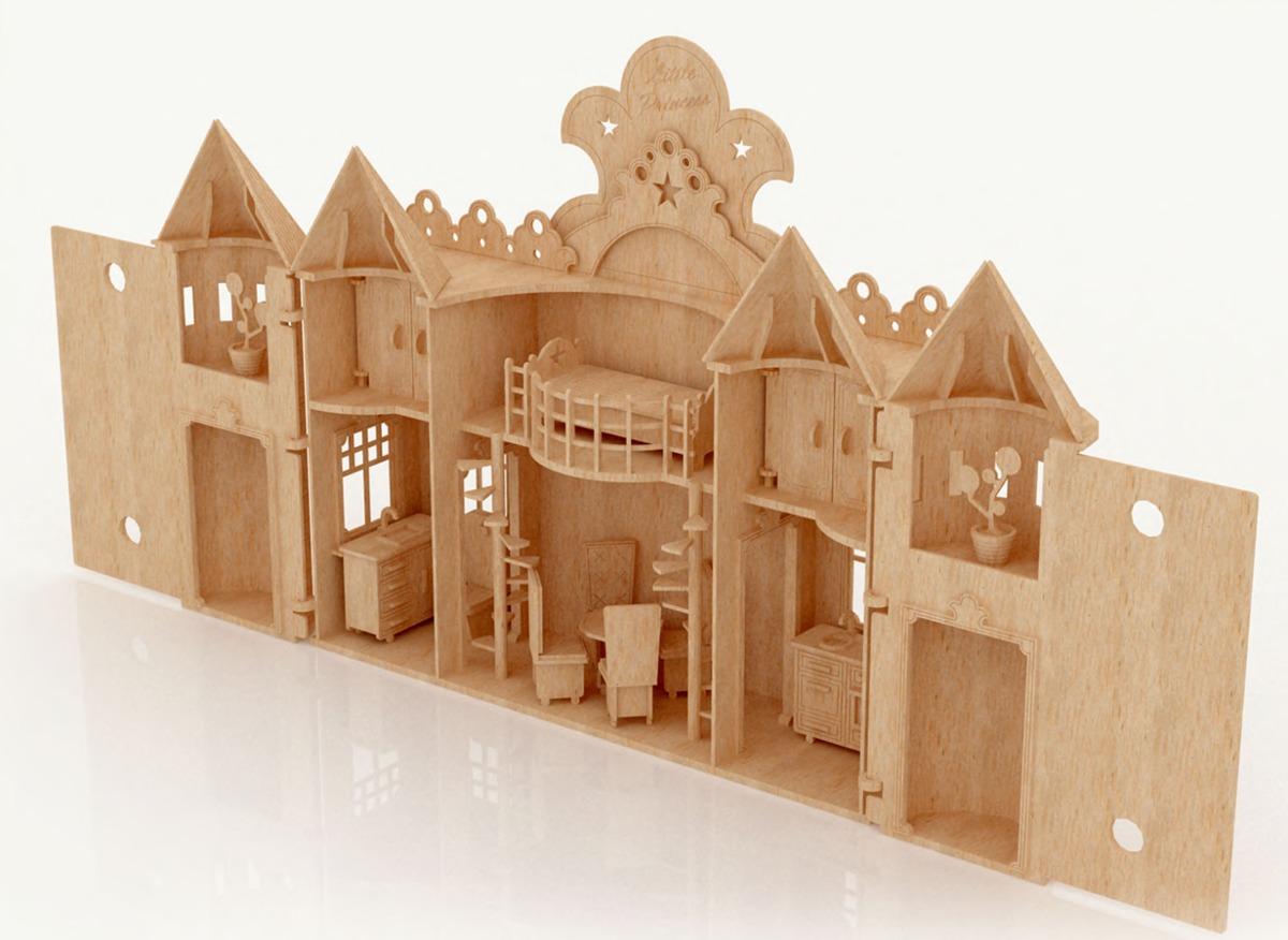 Casas prefabricadas madera casa de madera de barbie - Accesorios para casa de munecas ...
