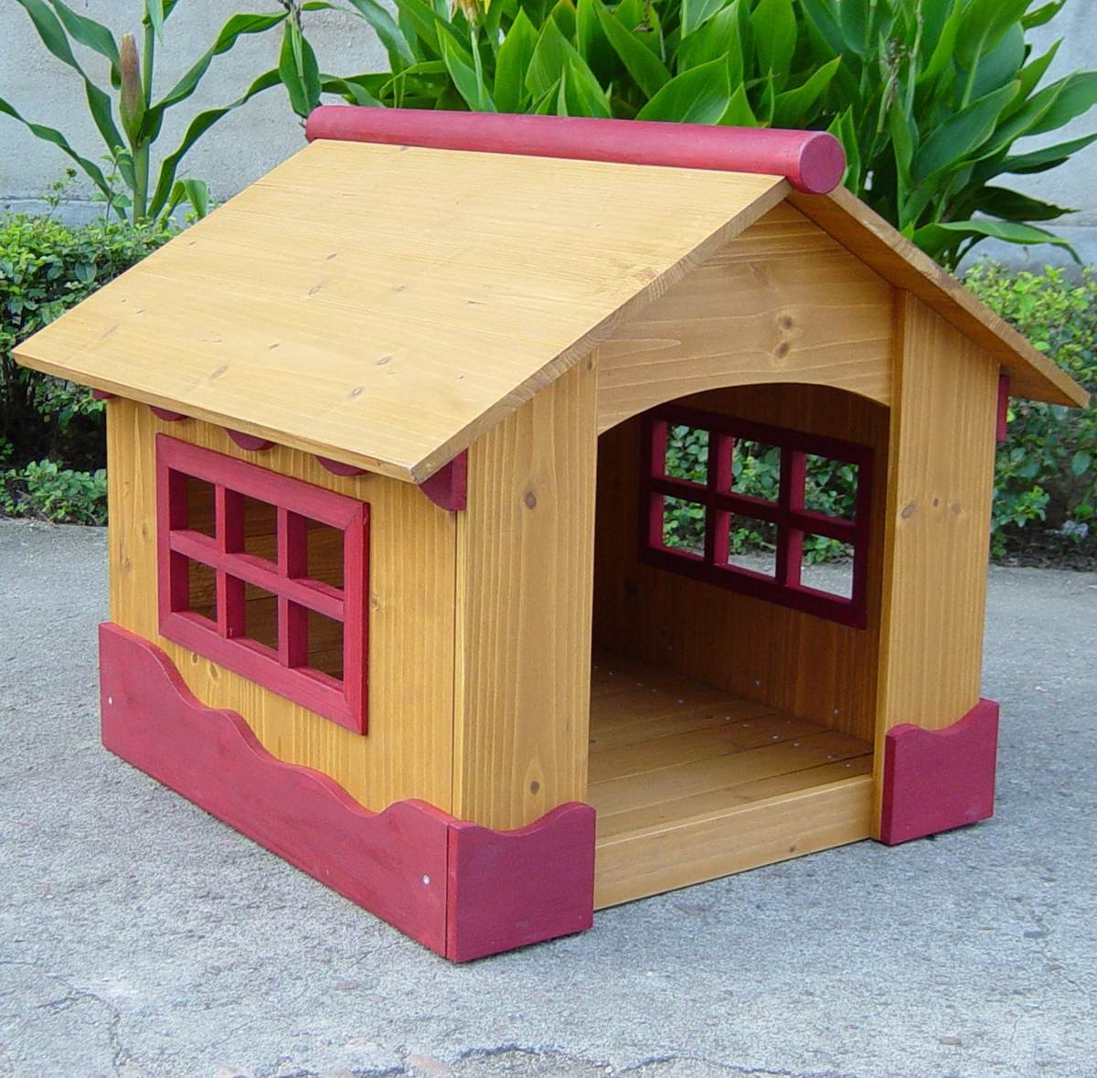 Casa para mascotas perros madera peque a vv4 2 - Casa perros madera ...