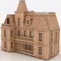 Casa De Muñecas Casa De Mdf Rompecabezas 3d Gmcm001