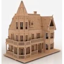 Casa De Muñecas Casa De Mdf Rompecabezas 3d Gmcm005