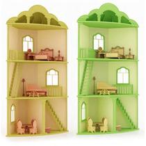 Casa Esquina Para Muñecas Barbie Monster High En Madera Mdf