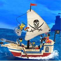 Set De Barco Pirata Bloques De Construccion Tipo Lego