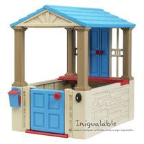 Casa Para Niños Azul Con Beige American Plastic