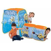 Casa Minions Casita Tienda De Campaña Tunel Juegos Niños