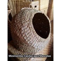 Casa Redonda Para Perro / Gato De Chuspata Fibra Natural