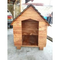 Casa De Madera Para Perro-mediana 80cmx80cm X 95cm Alto