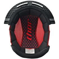 Thor Quadrant S10 Reemplazo Helmet Liner Negro / Rojo 2xl