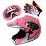 Casco Motocross Para Niño/joven/mujer