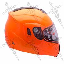 Casco Naranja Abatible Alta Visibilidad Norma Ecer22-05