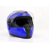 Casco Para Motociclista/visera Abatible Azul- 130228