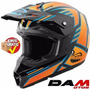 Casco Cross Cuatrimoto Assault Helmet Large Black/orange