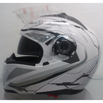 Casco Abatible Dot Moto Iron/lente Interno/motociclista