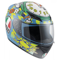Casco Agv Moto K3 Street Road Wake Up Rossi Talla X L