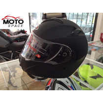 Casco Shiro Abatible Lente Interno Negro Mate Talla L